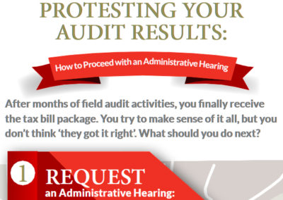 Protesting Your Audit Results: How to Proceed with an Administrative Hearing