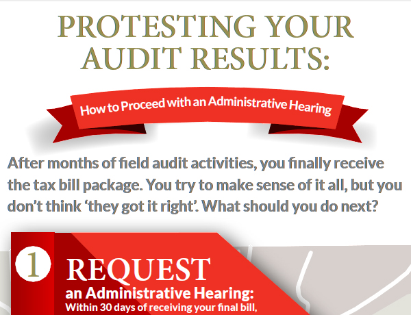 Infographic: How to Proceed with an Administrative Hearing
