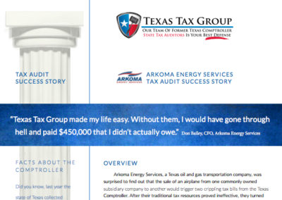 Sales Tax Audit Success Story: Arkoma Energy Services