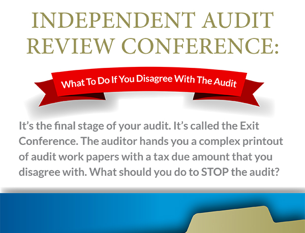 Infographic: What To Do If You Disagree With The Audit