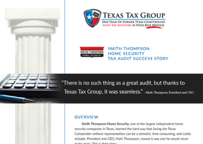 Smith Thompson Home Security Tax Audit Success Story
