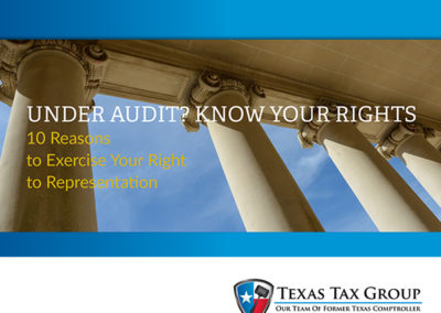 Under Audit? Know Your Rights.10 Reasons to Exercise Your Right to Representation