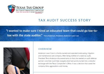 Texas State Tax Audit: Anderson Lawn Care